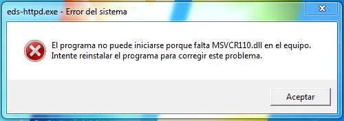 falta msvcr110.dll